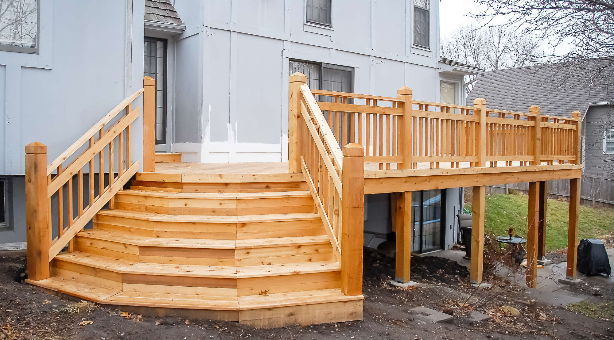 Custom Wood Deck Builder Leawood